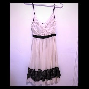 Arden B. Cream and Black Lace Dress